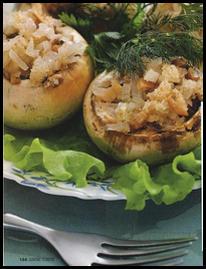 Рецепты для микроволновой печи, Рецепт фаршированных грибов