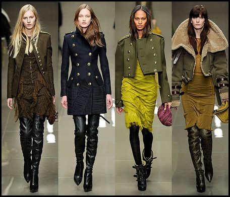Тренды  сезона осень-зима 2012.  Модные цвета осень.