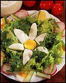 История салатов, Рецепт зеленого салата фото