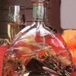 Красивая лампа из бутылки